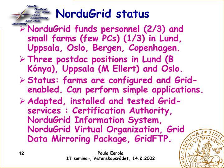 NorduGrid status