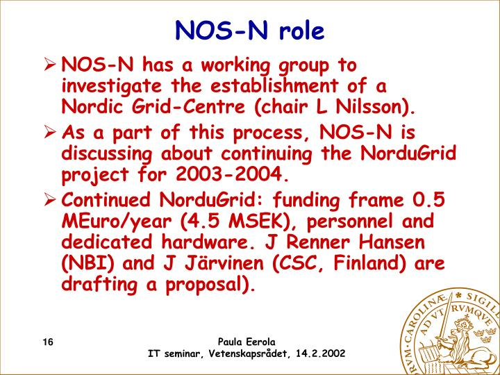 NOS-N role