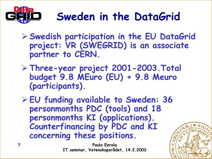 Sweden in the DataGrid