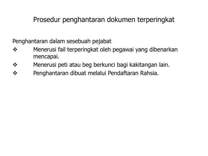 Prosedur penghantaran dokumen terperingkat