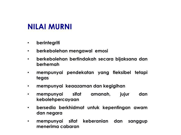 NILAI MURNI