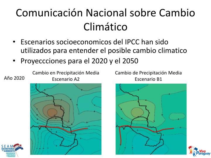Comunicación Nacional sobre Cambio Climático