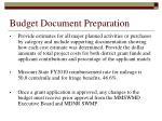 budget document preparation
