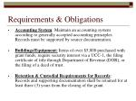 requirements obligations