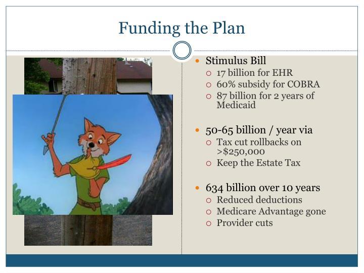 Funding the Plan