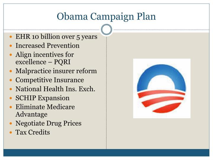 Obama Campaign Plan