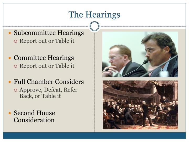 The Hearings