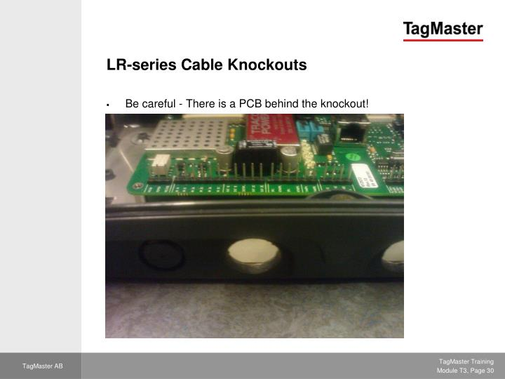 LR-series Cable Knockouts