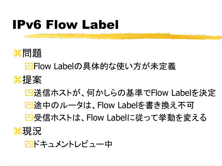 IPv6 Flow Label