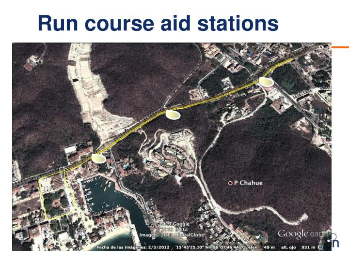 Run course aid stations