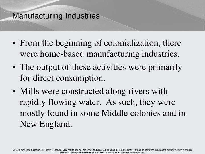 Manufacturing Industries