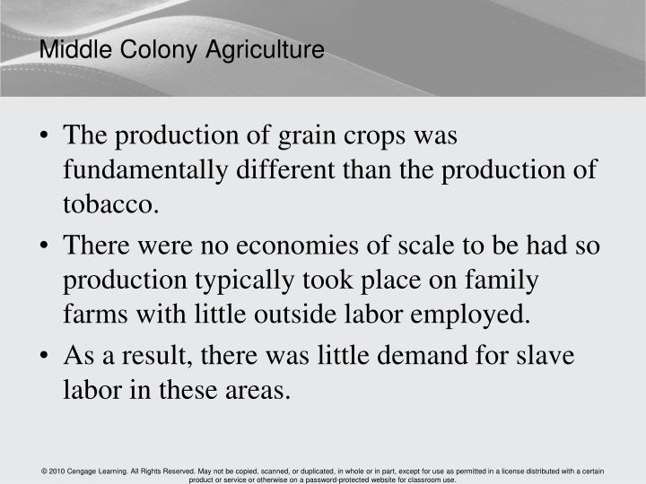 Middle Colony Agriculture