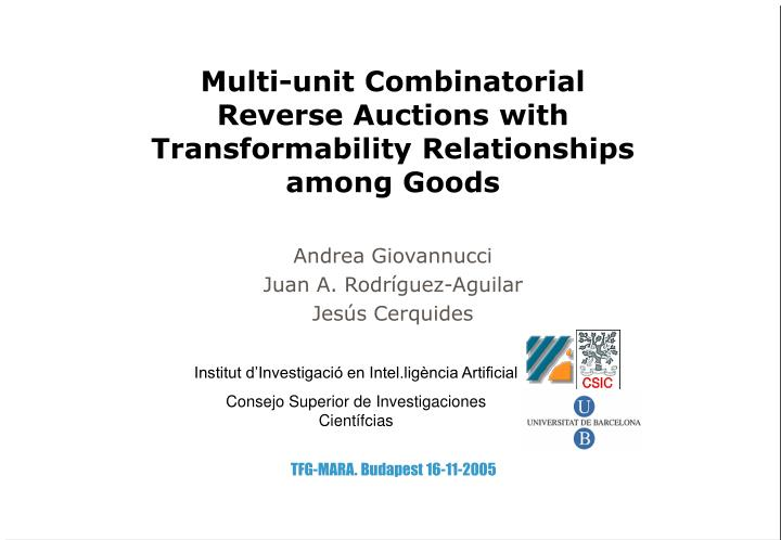 Multi-unit Combinatorial Reverse Auctions with Transformability Relationships among Goods