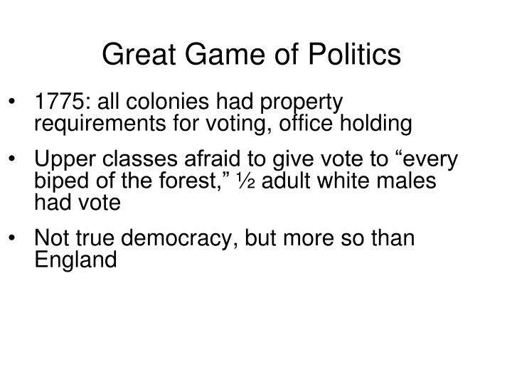 Great Game of Politics