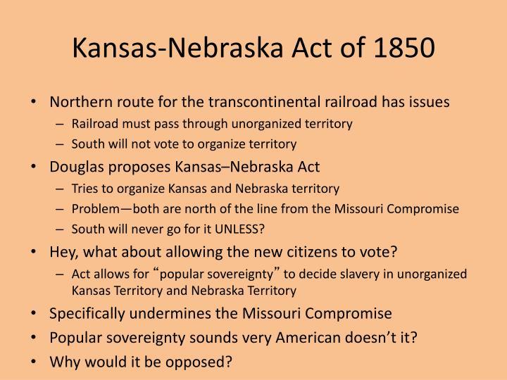 Kansas-Nebraska Act of 1850