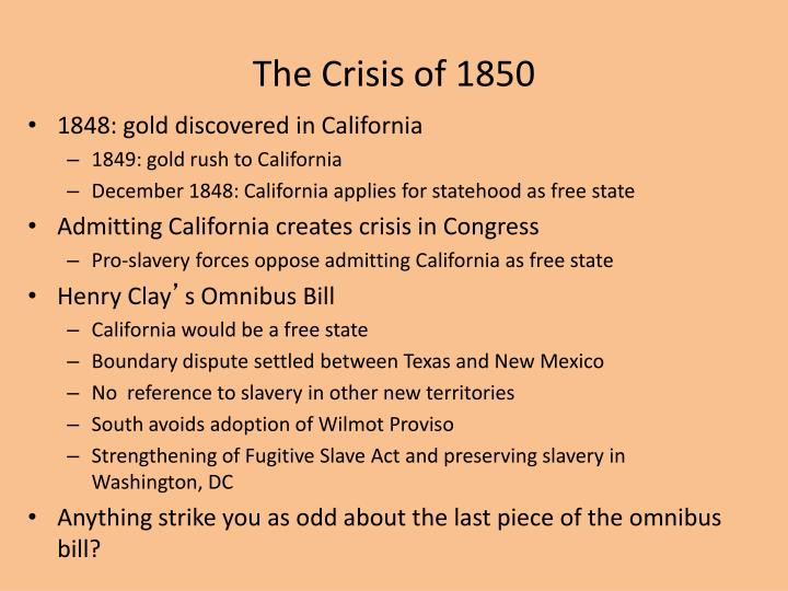 The Crisis of 1850