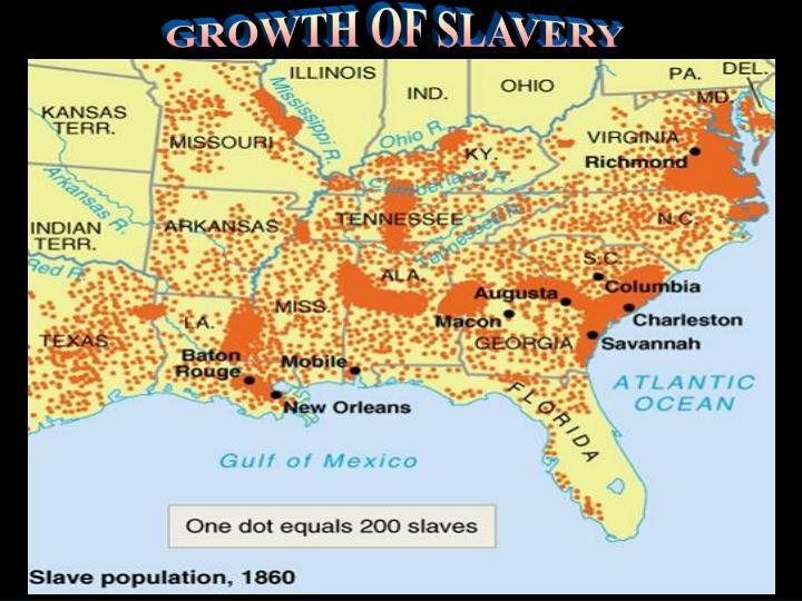 GROWTH OF SLAVERY