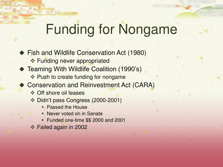 Funding for Nongame