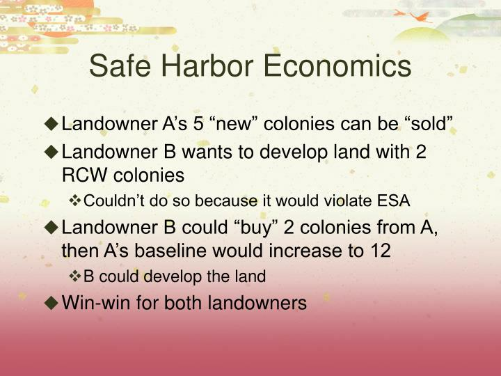 Safe Harbor Economics
