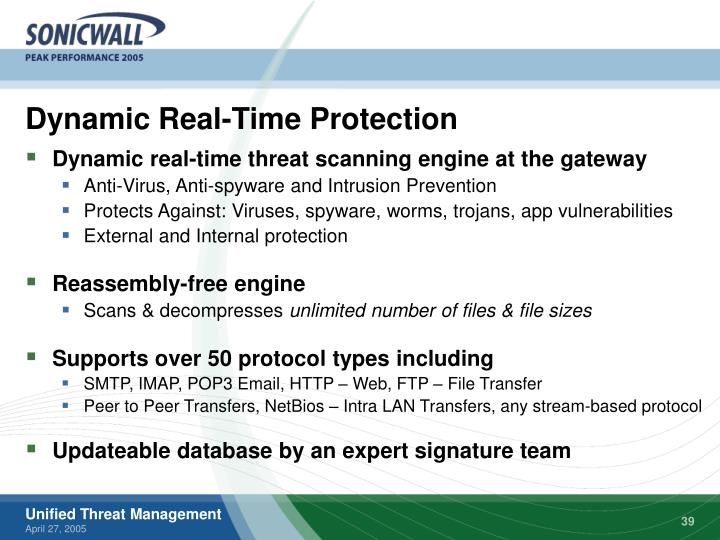 Dynamic Real-Time Protection