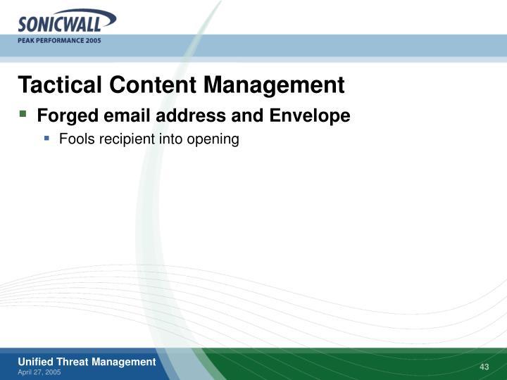 Tactical Content Management