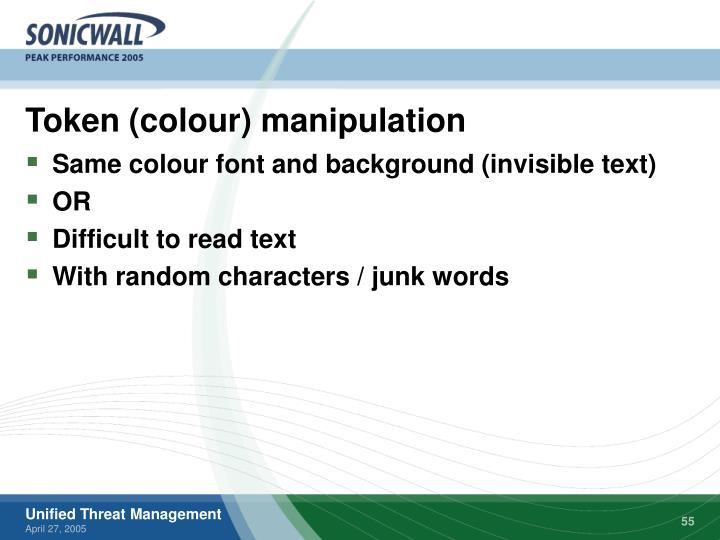 Token (colour) manipulation