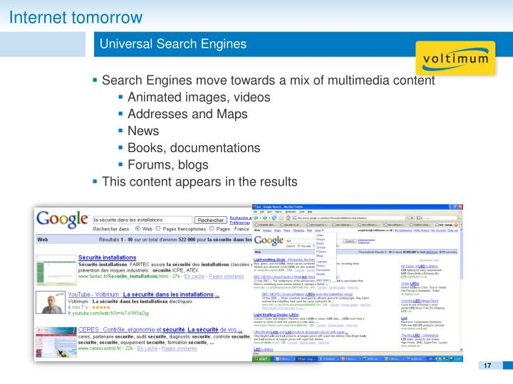 Universal Search Engines