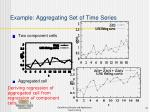 example aggregating set of time series