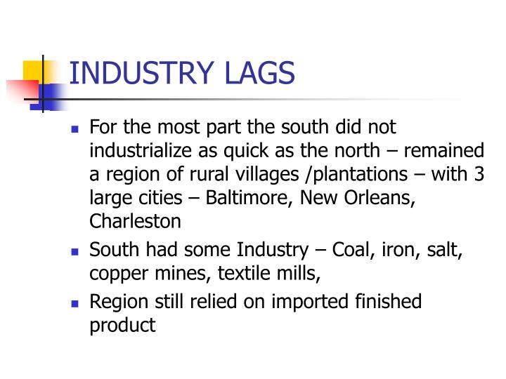 INDUSTRY LAGS