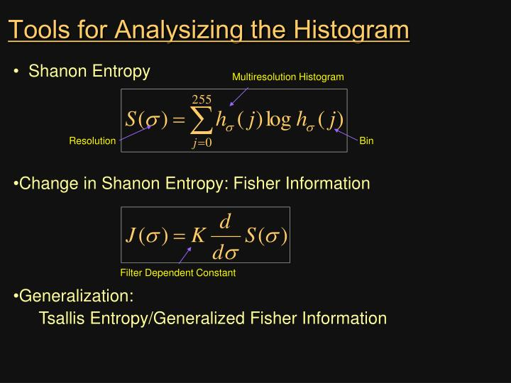 Tools for Analysizing the Histogram