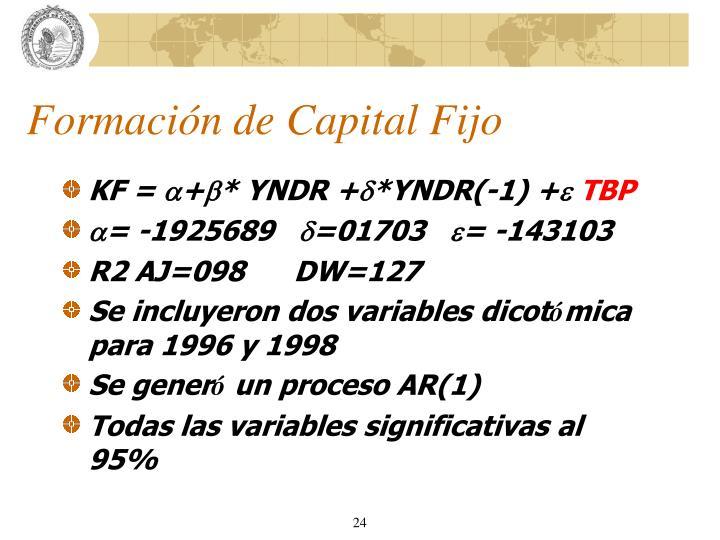 Formación de Capital Fijo