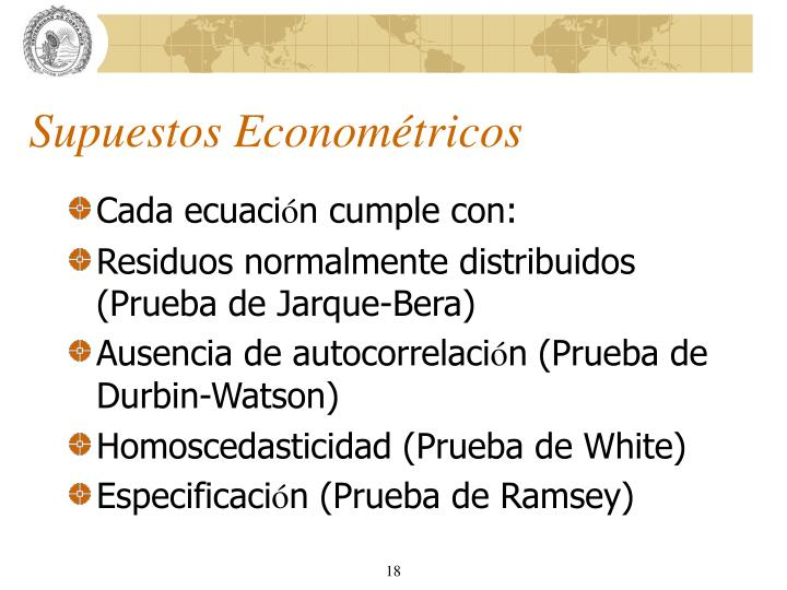 Supuestos Econométricos