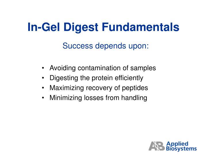 In-Gel Digest Fundamentals