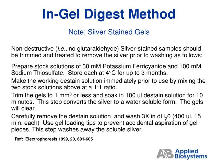 In-Gel Digest Method