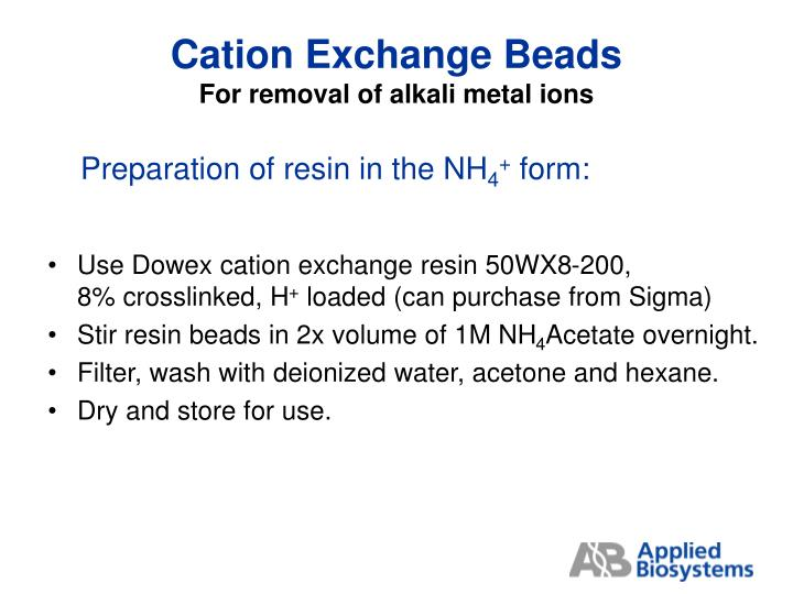 Cation Exchange Beads