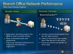 branch office network performance make users productive anywhere