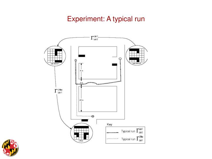 Experiment: A typical run