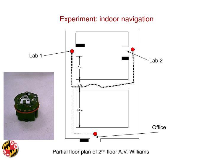 Experiment: indoor navigation