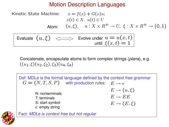 Motion Description Languages