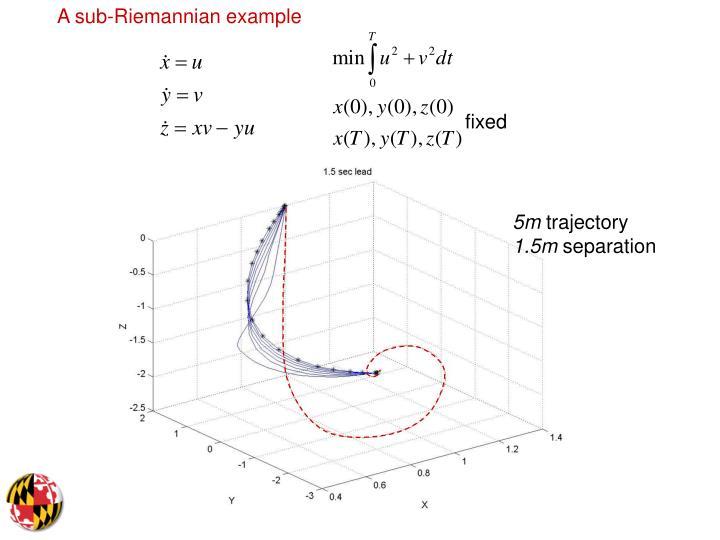 A sub-Riemannian example