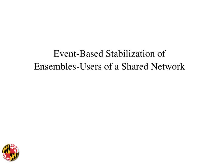Event-Based Stabilization of