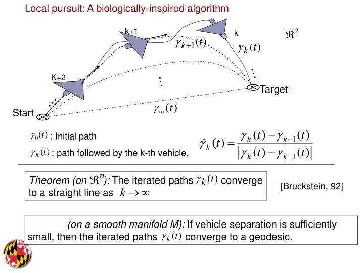 Local pursuit: A biologically-inspired algorithm