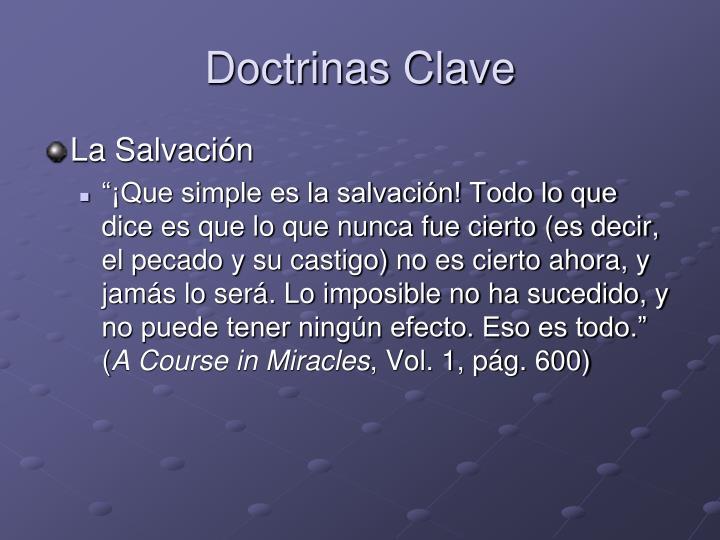 Doctrinas Clave