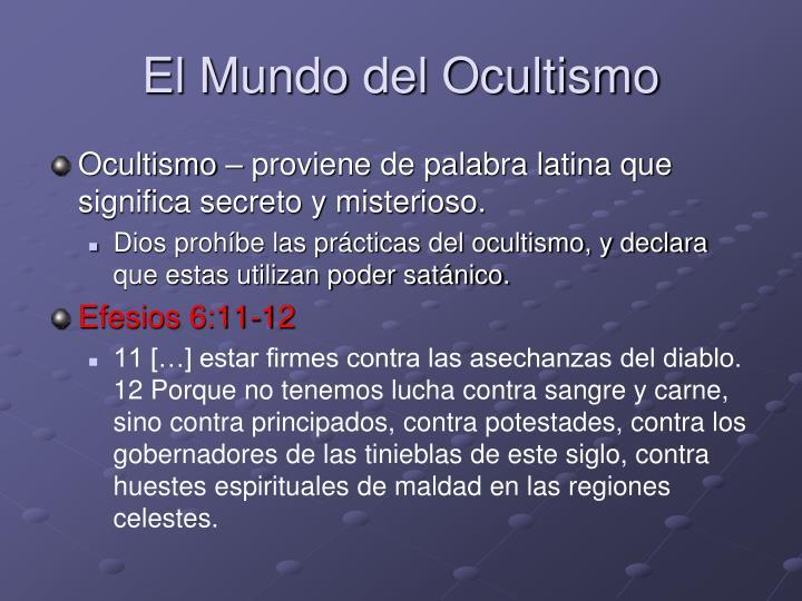 El Mundo del Ocultismo