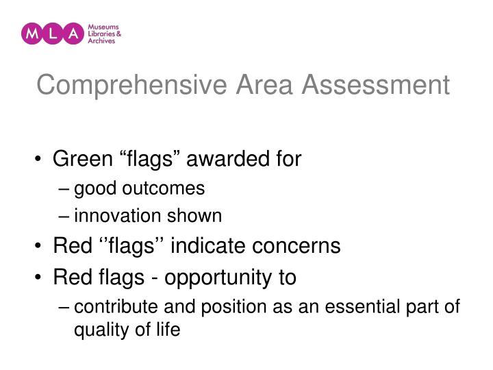Comprehensive Area Assessment