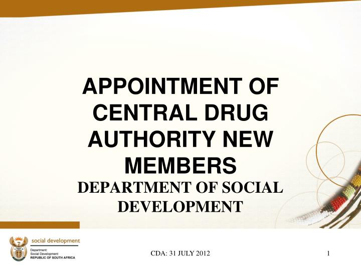 Appointment of central drug authority new members