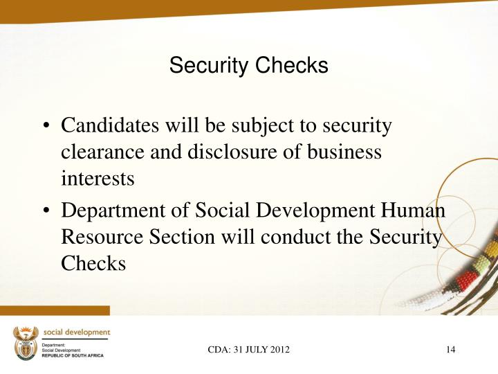 Security Checks