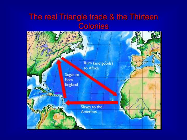 The real Triangle trade & the Thirteen Colonies
