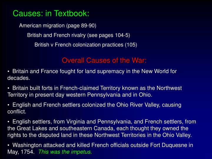 Causes: in Textbook: