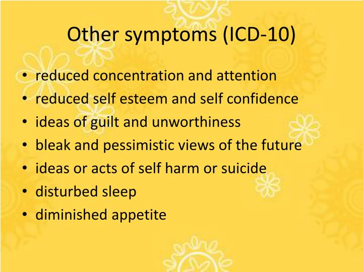 Other symptoms (ICD-10)